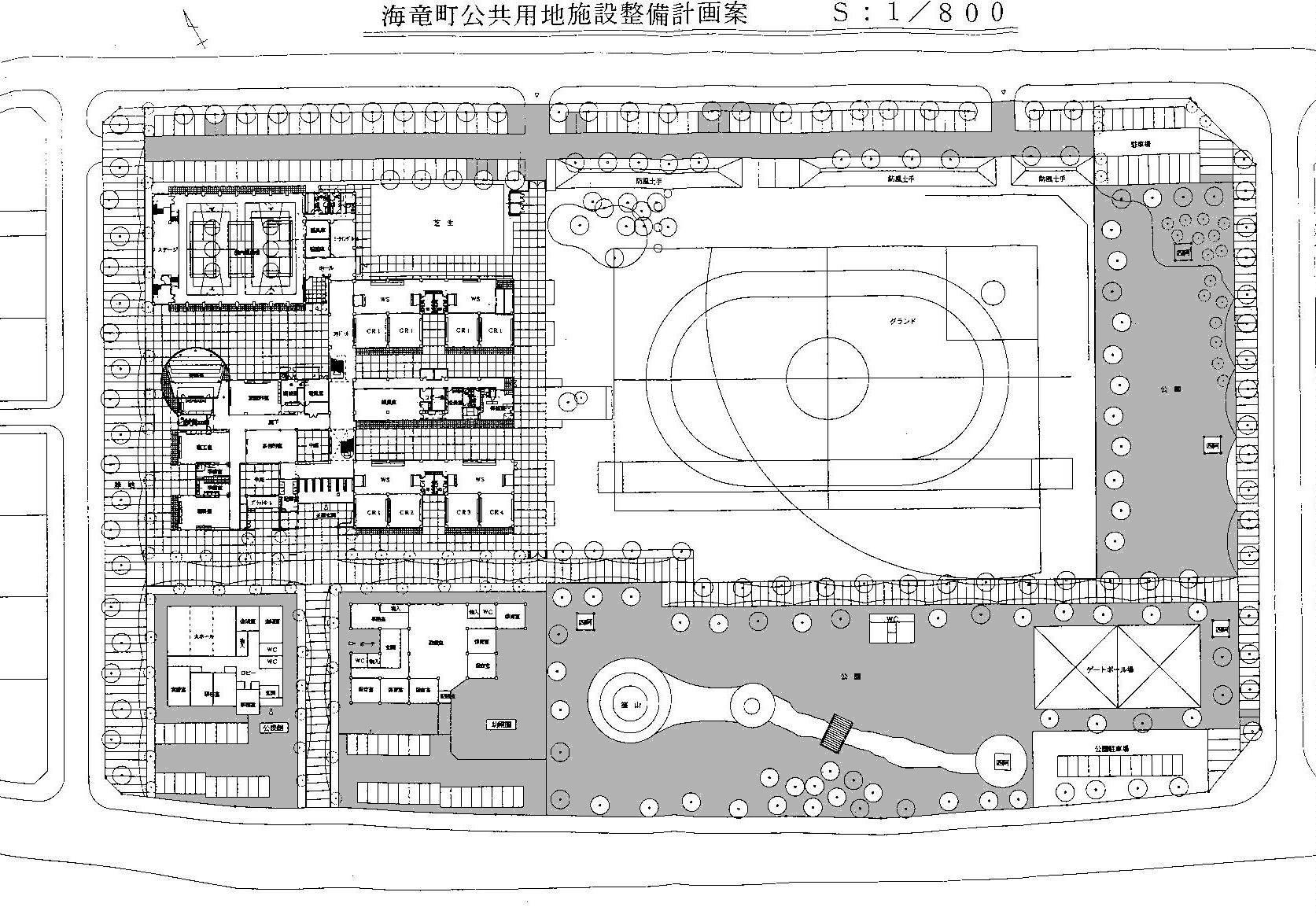 堀岡小学校南東の建設予定地