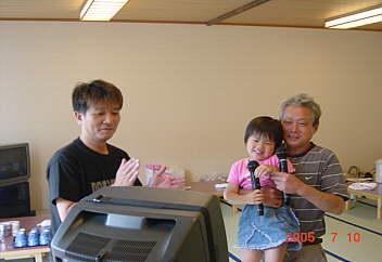 3、絶妙な司会と、孫(夢チャン)と歌う薫康ジ〜チャン(爆笑)(^_^;) pot2005.07.10