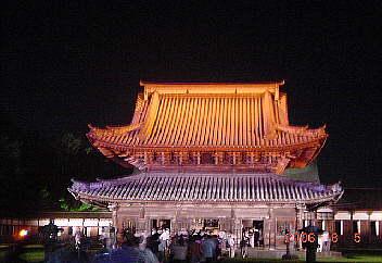 瑞龍寺仏殿ライトアップ 2006.8.5