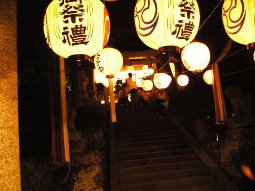 鷹日神社の夏祭り
