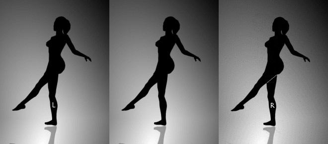 シルエット錯視 - Spinning Dancer